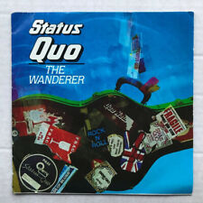 """STATUS QUO WANDERER(AUS) 7"""" 1984 WITH CAN'T BE DONE - light use on record, creas"""