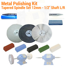 "Aluminium Alloy Brass Steel 11pc Bench Grinder Metal Polishing Kit 12mm (1/2"" )"