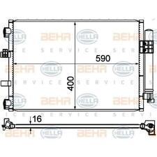HELLA 8FC 351 344-554 Kondensator Klimaanlage für FORD