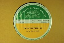 BBC 323 Transcription Disc TOP of POPS Live LP The Who Tommy  Kinks Donovan If