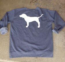 Victoria's Secret PINK Dog Logo Campus Crew Fleece Pullover Sweater M Medium NWT