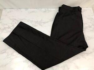 Coogi Luxe Flat Front Dress Pants Mens 34X30 Dark Gray Work Slacks Trousers S