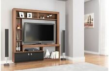 Birlea Zuma TV Stand Entertainment Unit Wall Cabinet Cupboard Black Gloss Walnut