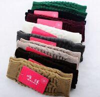 Lady Winter Braided Knitted Crochet Arm Warmer Mitten Long Fingerless Gloves Y1