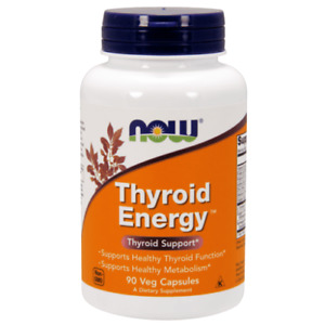 Now Foods, Thyroid Energy, 90 Veg Capsules For Active Metabolism