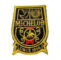 Vintage Michelob Beer Since 1896 Black and Gold Embroidered Patch NOS