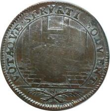 O7806 Rare Jeton Louis XIV portrait cravate Bretagne Temple Gerbes ->Faire offre