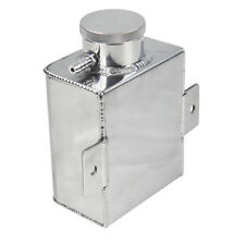 ALUMINUM Water COOLANT EXPANSION Overflow Bottle TANK FABRICATED W+BILLET CAP