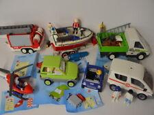 PLAYMOBIL les véhicules de sauvetage 4823 7485 4824 4345 4090 Camions Voitures THW bateau pompiers