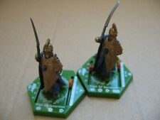Lotr Tmg Combat Hex Bs 079 & 080 High Elf Spearman (2 figures)