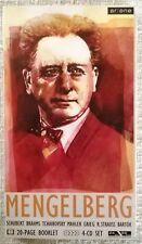 Josef Willem menbelberg 4-cd Set BOOKLET-Schubert, Brahms, Mahler, Strauss, ecc
