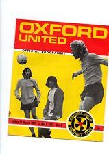 OXFORD UTD V HULL CITY FRIDAY 23rd MARCH 1973--5p PROGRAMME *FREE UK SHIPPING