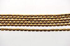 Shiny Gold BRONZE Metallic HEMATITE HEX Barrel Beads 5.5x4mm full strand ghe0058