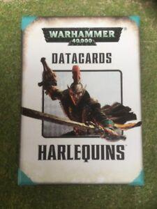 Warhammer 40K - Harlequins Datacards - Games Workshop - Exc Con Free Post