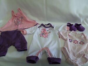Zapf Baby Born Dolls Clothes Bundle Ex.con