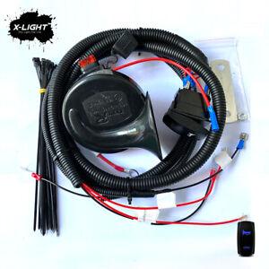 UTV Horn Kit w/ Rocker Switch For Polaris RZR General Ranger Can-Am Maverick X3