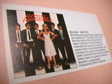 Blondie give great lines Original vintage music biz promo trade advert