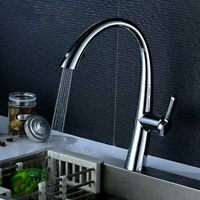 New 1-Handle Rotatable Pull-Out Kitchen Faucet Dual-Function Spray in CHROME US