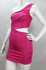 Guess by Marciano NWT Hot Pink One Shoulder Bodycon Cutout Cocktail Dress sz XS
