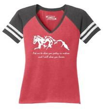 Ladies Ask Me Show You Poetry In Motion I Will Show You Horses Game V-Neck Tee