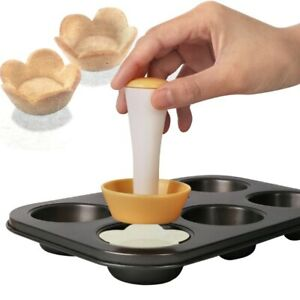Plastic Cookie Dough Flower/Round Muffin Cutter Pastry Cutter Set Tamper Shell