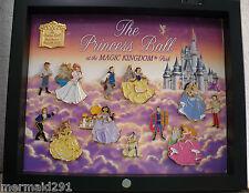 PRINCESS BALL COMPLETE SET OF PINS; ARIEL, BELL, JASMINE, SLEEPING BEAUTY, SNOW+