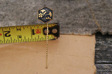 Antique Asian Flowers Fan Gold Victorian Art Deco Hatpin Old Estate Find Hat Pin