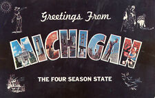 postcard USA Greetings from Michagan the four season state  unposted