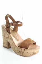 Buckle Suede Solid Sandals for Women