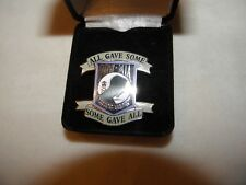 """MIA-POW LAPEL TACK PIN ARMY NAVY AIR FORCE MARINE """"ALL GAVE SOME SOME GAVE ALL"""""""