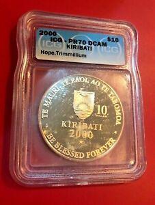 2000 $10 ICG PR70DCAM KIRIBATI HOPE TRIMMILLUM PERFECT