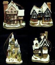 David Winter 4 Pk Christmas Ornaments - Clearance!!