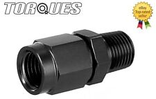 "AN-6 (6AN) To 1/4"" NPT MALE Oil Pressure Sender / Gauge Take Off Adapter BLACK"