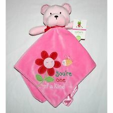 "NWT - Carters ""You're One Of a Kind Flower Bee Bear Pink"" Baby Security Blanket"