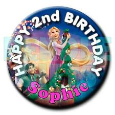 RAPUNZEL - Tangled - BIRTHDAY BADGE - 58mm -  any name and age