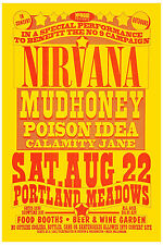 Grunge: Nirvana & Mudhoney at Portland Concert Poster 1992 12x18