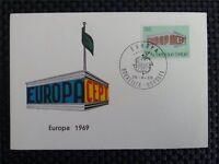 BELGIEN MK 1969 EUROPA CEPT MAXIMUMKARTE CARTE MAXIMUM CARD MC CM a8819
