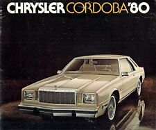 Chrysler Cordoba 1980 USA Market Sales Brochure Crown 3.7-6 5.2-V8