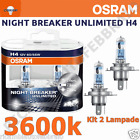 Coppia Lampade Osram 64193NBU H4 +110% luce 12V 60/55W Night Breaker Unlimited