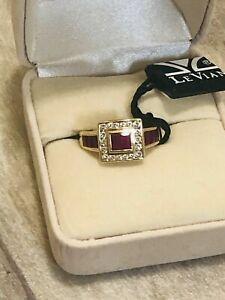 Le Vian 18k Yellow Gold Ruby & Diamond Ring .33CT T.W(diamonds), Size 6 25