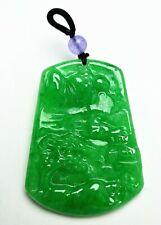 Chinese Jadeite Jade Rare Collectible Handwork Landscape Pendant Ade01