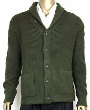 New Polo Ralph Lauren Men's Cotton Shawl Cardigan Sweater Green, XL, 0186102WGB