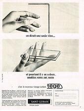 PUBLICITE ADVERTISING 015  1965  SAINT-GOBAIN  vitrage isolant   TEGE