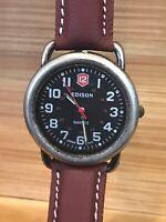 Edison 1940461 Men's Quartz Watch. New Battery. New Band
