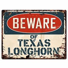 PP1796 Beware of TEXAS LONGHORN Plate Rustic Chic Sign Home Store Decor Gift