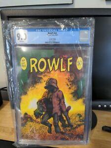 ROWLF, CGC 9.0, 2nd RICHARD CORBEN, UNDERGROUND COMIC