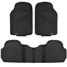Motor Trend Car Floor Mat Heavy Duty 100% Odorless Trimmable Full Set - Black