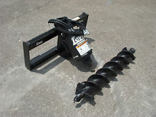 Lowe Bp 210 Round Auger Drive With 6 Auger Bit Fits Skid Steer Loader Planetary