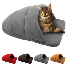Grey Cozy Cave Dog Bed Washable Warm House Pet Cat Sleep Beds Igloo Nest Kennel