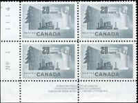 Canada Mint F+ Scott #316 20c 1952 Block of 4 Forestry Stamps MNH/MH